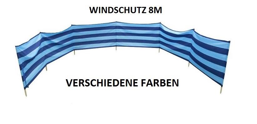 windschutz sichtschutz f r strand garten see meer 8m. Black Bedroom Furniture Sets. Home Design Ideas